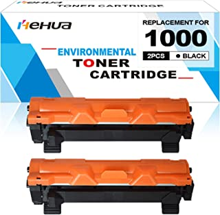 Hehua Compatible for Brother TN1000 TN-1000 Toner Cartridge Use for Printer HL-1110 HL-1112 HL-1210W MFC-1810 MFC-1910W DCP-1510 DCP-1512 DCP-1610W 2-Pack