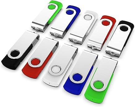 KEXIN 10 Pack 8GB Flash Drive Thumb Drive Jump Drive...