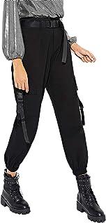 Milumia Women's Casual Mid Waist Plaid Zip Side Pants