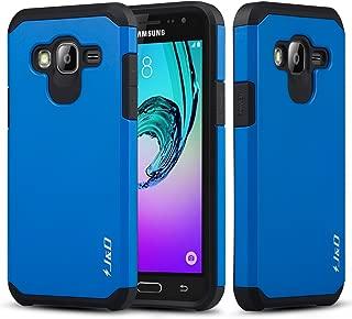 J&D Case Compatible for Galaxy J3 / J3 2016 / J3 V/Amp Prime / J3 Sky/Express Prime Case, Heavy Duty [Dual Layer] Hybrid Shock Proof Protective Rugged Bumper Case for Samsung Galaxy J3 Case - Blue