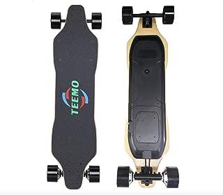 Teemo Electric Skateboard Moterized Longboard 23MPH Dual Long Range 15 Miles
