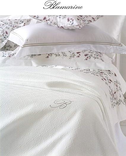 Blumarine Delfina Copriletto Leggero Variante Bianco Matrimoniale Misura 270x270 Cm Non Trapuntato 100 Cotone Made In Italy Amazon It Casa E Cucina