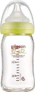 【耐熱ガラス製 160ml】 ピジョン Pigeon 母乳実感 哺乳びん ライトグリーン 0ヵ月から おっぱい育児を確実にサポートする哺乳びん