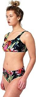 Nicole Miller New York Square Neck Bikini Top and Full Coverage Bottom 2 Piece Swimsuit Set