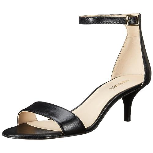 c04eee967ef Nine West Women s Leisa Leather Heeled Dress Sandal