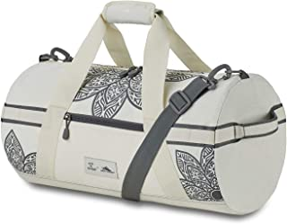 Life Is Good Mandala Cargo Duffel Bag, Putty White/Slate Grey