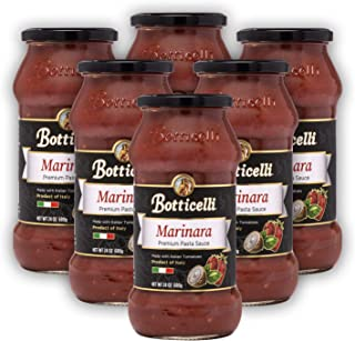 Botticelli Marinara Premium Pasta Sauce. Delicious Homemade Style Red Sauce Made in Italy, with Natural Ingredients in Small Batches. (6 Pack)