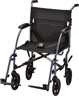 NOVA Travel Lightweight Transport Chair, Compact Design with Removable Legs, Great for Travel