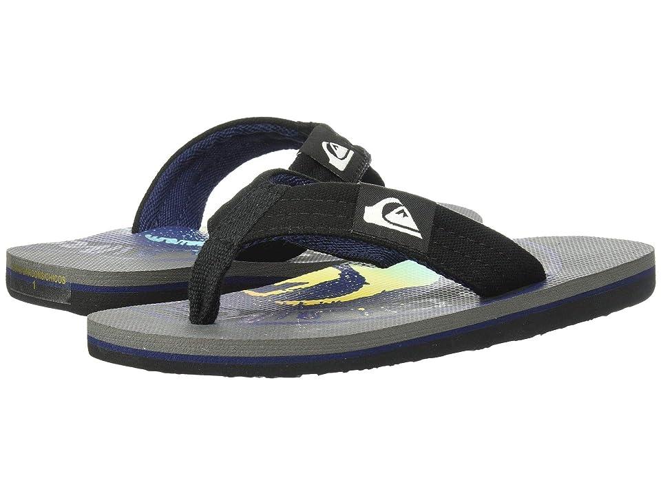 Quiksilver Kids Molokai Layback (Toddler/Little Kid/Big Kid) (Grey/Black/Blue) Boys Shoes