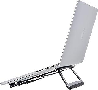 "Amazon Basics Opvouwbare laptopstandaard voor laptops tot 33 cm (13""), aluminium, zwart"