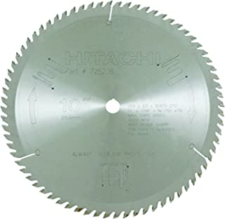 Hitachi 725206 72-Teeth Tungsten Carbide Tipped 10-Inch ATB 5/8-Inch Arbor Finish Miter Saw Blade