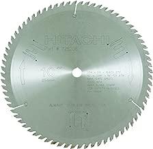 Hitachi 725206 72-Teeth Tungsten Carbide Tipped 10-Inch ATB 5/8-Inch Arbor Finish Miter Saw Blade