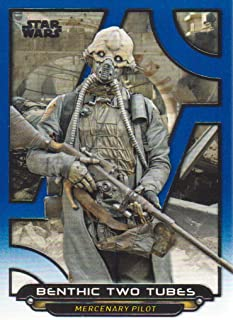 2018 Topps Star Wars Galactic Files Blue Parallel Trading Card #RO-18 Benthic Two Tubes