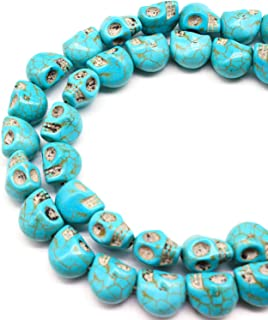 JarTc Turquoise skull beads accessories (10mm X 10mm)