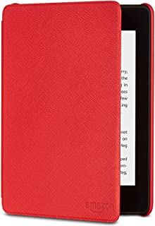 Kindle Paperwhite Leather Cover (10th Generation-2018) - Red