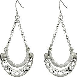 The Sak - Metal Hinge Trapeze Earrings