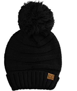 Oversized Super Big Slouchy Pom Pom Warm Chunky Stretchy Knit Beanie Hat