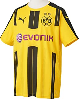 PUMA 2016-2017 Borussia Dortmund Home Football Soccer T-Shirt Jersey (Kids)