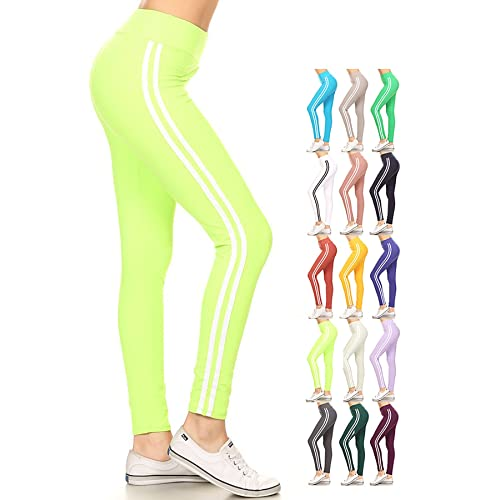 4ea615ad06d Leggings Depot High Waist Double Lined Solid Yoga Leggings