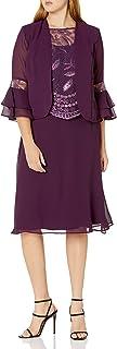 فستان نسائي من Le Bos بأكمام بيل مع فستان لوالدة العروس بحافة صدفية