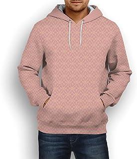 Coaballa Unisex 3D Pattern Printed,Peach,Hoodie Sweatshirts with Big Pockets