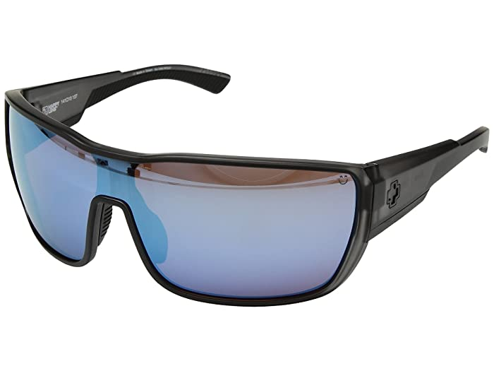 Spy Optic Tron 2 (Matte Gray Smoke/Happy Bronze/Dark Blue Spectra) Athletic Performance Sport Sunglasses
