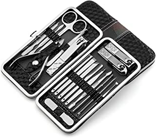 CUUWE Manicure Set, Nail Clippers Set 18 Pieces Of Stainless Steel Nail Care Tools Set, Multi-Function Beauty Manicure Nai...