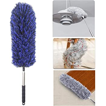 SynSo Microfiber Extendable Dusting Brush Hand Duster with Telescoping Pole (Small, Red Blue Pink Green Yellow )