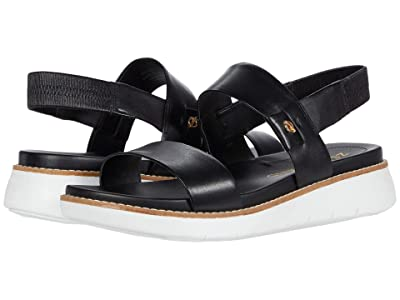 Cole Haan Zerogrand Global Double Band Sandal (Black/Optic White) Women