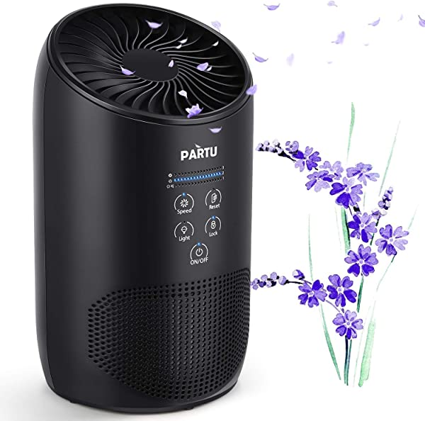 PARTU HEPA Air Purifier Smoke Air Purifiers For Home With Fragrance Sponge 100 Ozone Free Lock Set Eliminates Smoke Dust Pollen Pet Dander Available For California