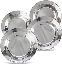 Assiettes à soupe en acier inoxydable 23 CM ASSIETTE extérieur camping vaisselle camping ASSIETTE NEUF
