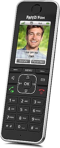 AVM Fritz!Fon C6 Black DECT-Komforttelefon (hochwertiges Farbdisplay, HD-Telefonie, Internet-/Komfortdienste, Steuerung Fritz!Box-Funktionen)...