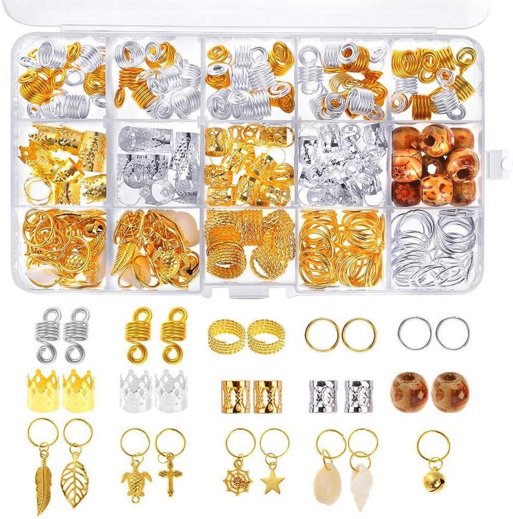 FunPa 159PCS Hair Jewelry Rings Cuffs Many popular brands Decorative Dreadl cheap DIY