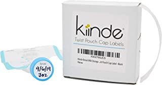 Kiinde Twist Cap Write-On Labels for Breast Milk Storage Pouches (Pack of 250) - Blank