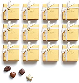 Godiva Chocolatier Chocolate Gold Favor 48 Piece Gift Box, White Ribbon With Heart Charm, Holiday Hostess Gift, 19 Ounce