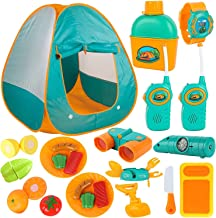 ToyVelt Kids Camping Tent Set -Includes Tent, Telescope, 2 Walkie Talkies, and Full..