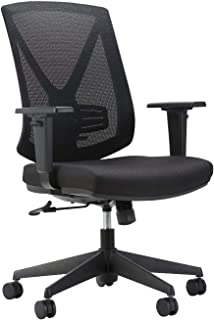TANUMI Office Chair, Black Mesh Back Computer Chair with Lumbar Support, Swivel Rotate with Adjustable Height for Armrest...