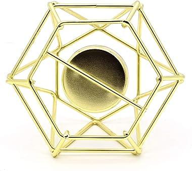 Photophore géométrique pour Bougie Chauffe-Plat, décoration de la Maison, en métal Creux, lanternes décoratives, Ornement Nor