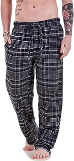 Apparel Mens Flannel Pyjama Bottoms Brushed Cotton Check Lounge Pants Nightwear M-5XL