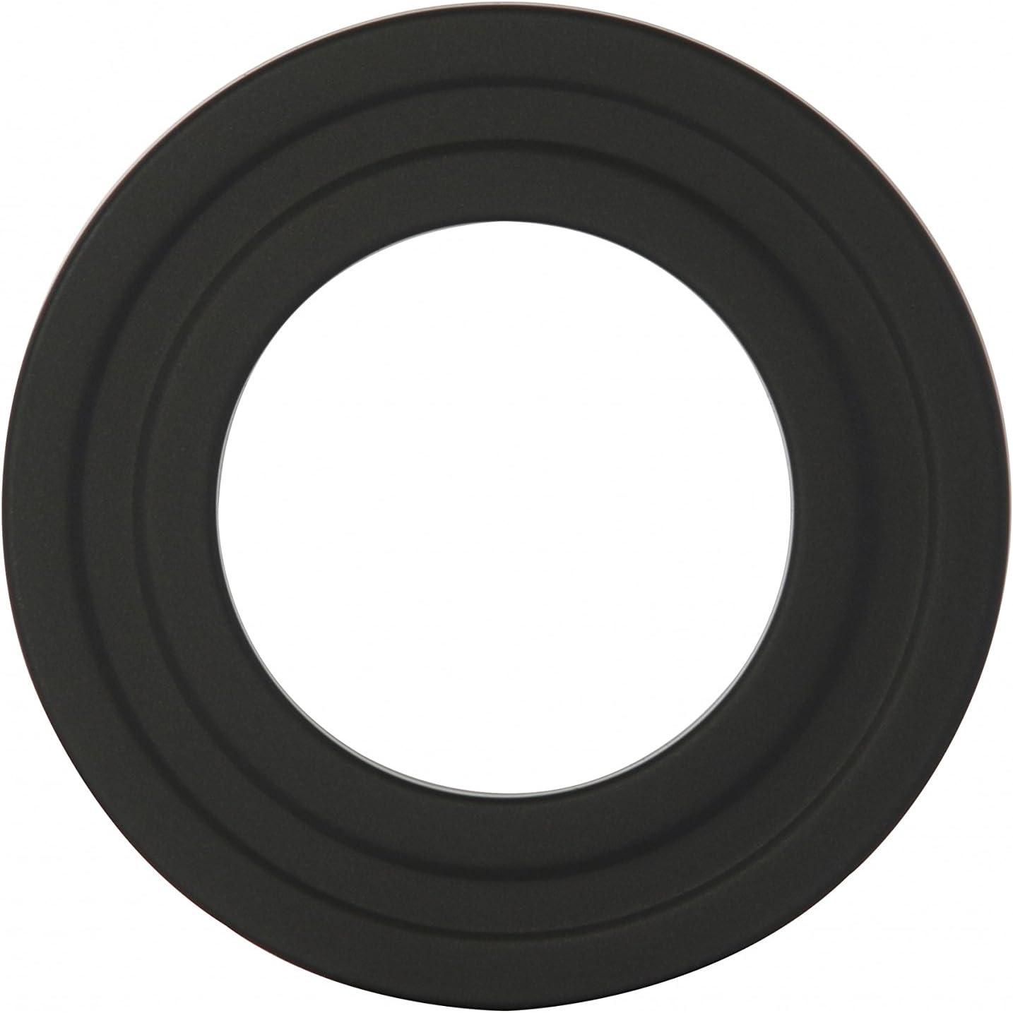 Colore Bianco Rosetta di Copertura in Plastica per tubo di Termosifoni Canna Fumaria Camino a Legna e Termosifone. Stufa a Pellet DOJA Industrial Rosone Copri Tubi rotondo 80 mm