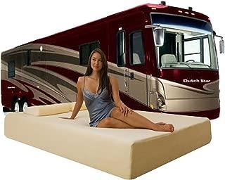 "DynastyMattress Deluxe 10-Inch Memory Foam Short Mattress for RV, Camper-Queen Size:(H) 10""x(W) 60""x(L) 75"""