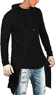 Men's Slim Fit Hoodie Lightweight Hooded Sweatshirt Casual Hip Hop Long Length Cloak Cotton Blend Pullover