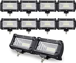 10PCS 5 inch 72W Doble fila10D LED luz de trabajo Barra Flood Beam DC 12V-24V vehículos todoterreno 4x4 Atvs Utvs Camión Barco