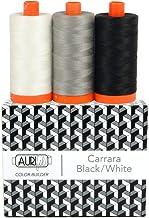 Aurifil Thread CB CarrarBlk/Wh 3pc, black
