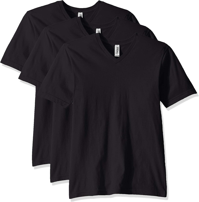 Marky G Apparel Men's Fine Jersey Sleeve V-Neck T- Time sale Short Classic Great interest