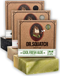 Dr. Squatch Men's Soap Variety Pack – Manly Scent Bar Soaps: Pine Tar, Cedar..
