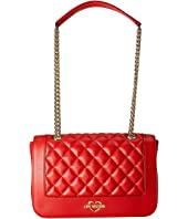 LOVE Moschino - Super Quilted Shoulder Bag Chain Strap