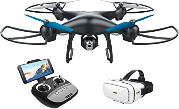 Promark: GPS Shadow Drone - Premier GPS-Enabled Drone with Follow Me Technology - 6-Axis Gyroscope for Panoramic Shots - Lithium Batteries Included - 720p WiFi Camera - Includes VR Goggles
