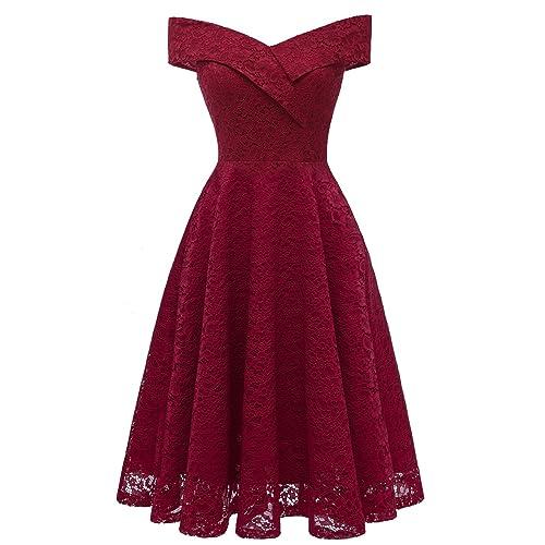Burgundy Prom Dress Off Shoulder: Amazon.com