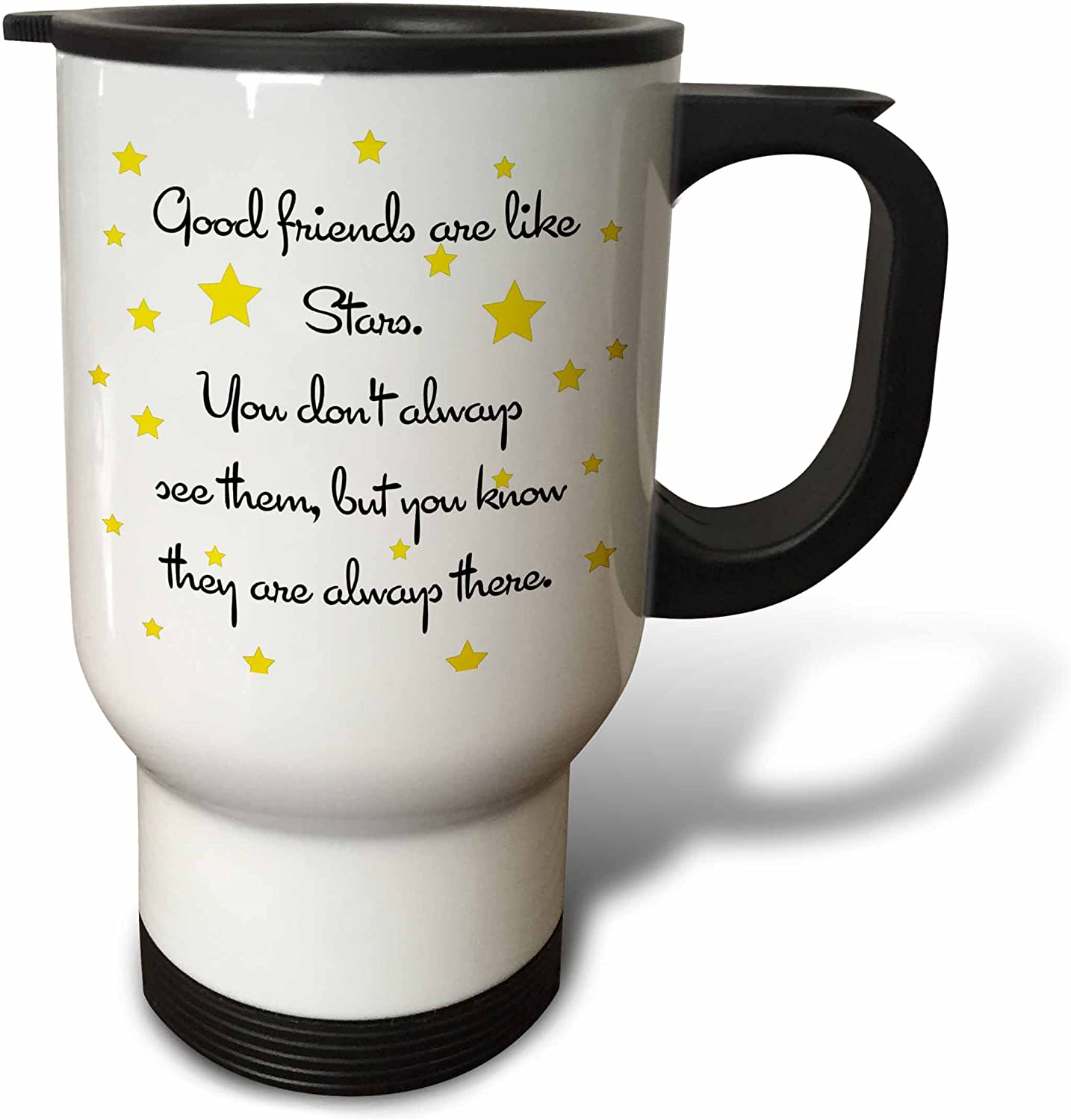 3dRose Good Spasm price Friends Are Like Mug OFFicial store Stainle Travel Stars 14-Ounce